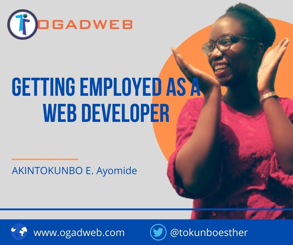 Getting Employed as a web developer