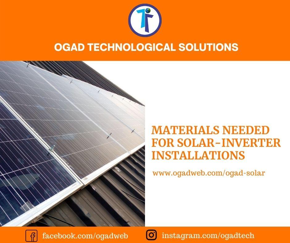materials needed for solar-inverter installations