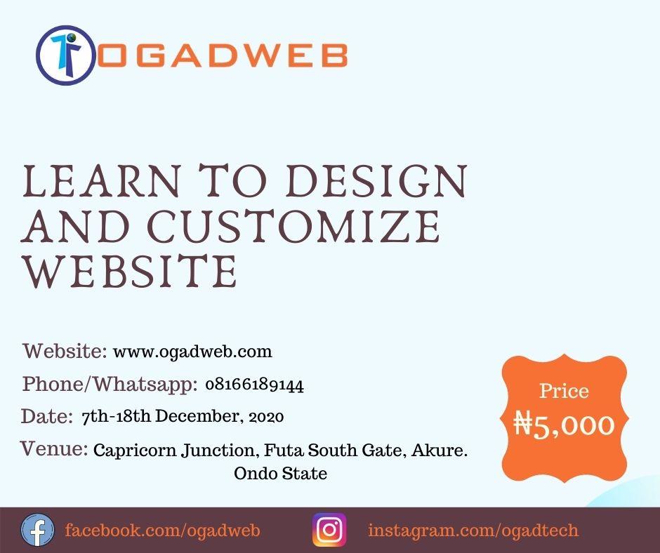 Website Design Training in Akure